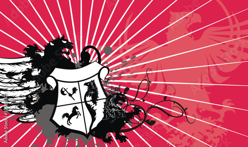 heraldic coat of arms background05