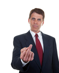 Businessman Showing You the Finger
