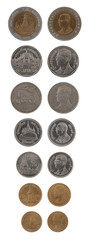 Thai Coins Isolated on White