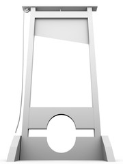 Guillotine in white