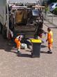 Leinwanddruck Bild - Müllmänner