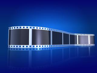 Filmstreifen blau