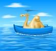 cammello in barca