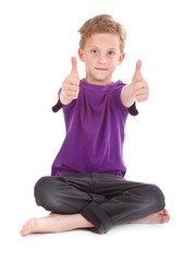 boy showing ok sign
