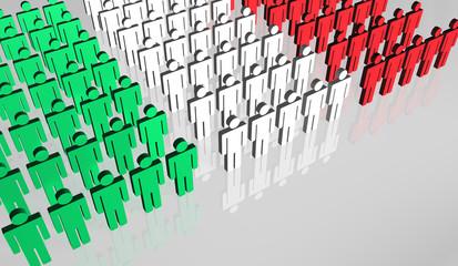 Italian People Flag