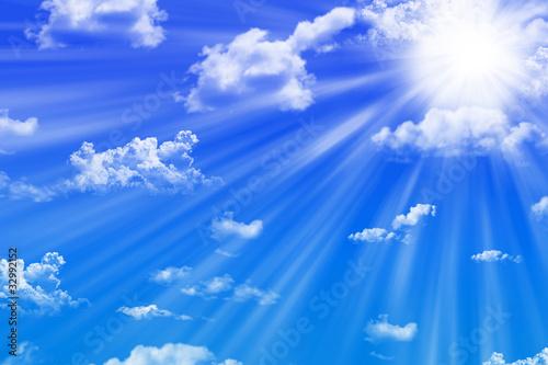 Fototapeten,himmel,blau,sonne,wolken