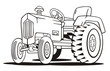 Tractor Coloring Template
