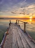 Fototapeta słońce - woda - Jezioro / Staw