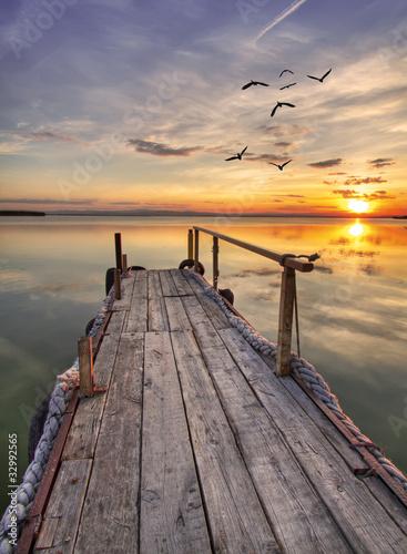 Deurstickers Pier el embarcadero de madera
