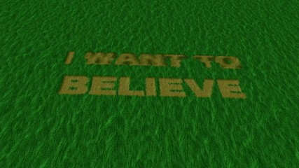 "crop circle""i want to believe"" green ver2"
