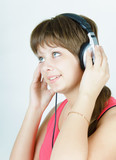 portrait of a girl music lover