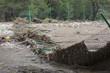 Destroyed Chainlink Fence after Flood Disaster - 32994948