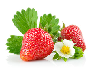 strawberry berry with green