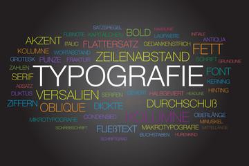 Typografie Wortwolke - vektor
