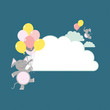 Cloud balloon elephants