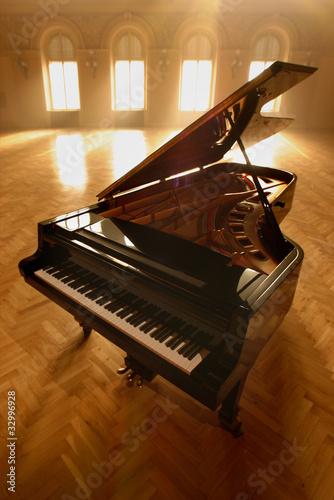 Leinwanddruck Bild Grand Piano in Light II