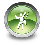 "Green Glossy Pictogram ""Rock Climbing"""