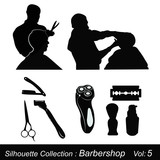 Silhouette Collection : Barbershop poster