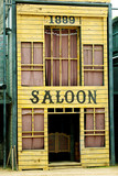 Saloon in Wild West style poster