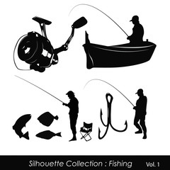 Silhouette Collection : Fishing