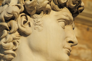 David's head at sunset, Florence