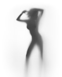 Sexy dancer woman silhouette