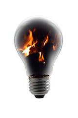 concetto per energia fossile - fire bulb