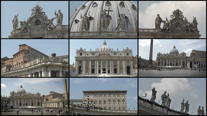 St. Peter's Basilica Montage, Roma, Italy - HD1080