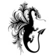 Drago Tatuaggio Silhouette Sagoma-Dragon Drake Tattoo Shape