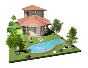 Villa Casa con Piscina-House with Pool-3d-2