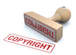 Copyright rubber stamp