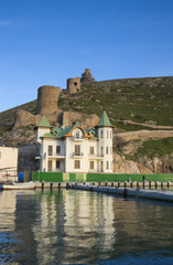 harbour in Balaklava (Crimea, Ukraine)