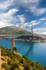 modern bridge near Dubrovnik, Croatia