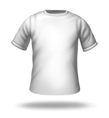 Single white t-shirt isolated