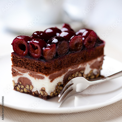 Piece of delicious Cherry Cake
