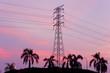 pylon tower sunset