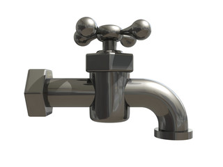 the water metal tap