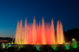 Montjuic magic fountain situated in Barcelona (Spain) poster