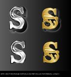 eps Vector image:initials(S)metallic material logo I
