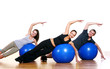 Group of People Doing Fitness Exercises