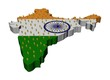 India map flag with many abstract people illustration