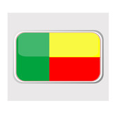 Flag of benin in the form of an icon for a web of pages