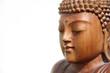 buddha gesicht seitlich isoliert