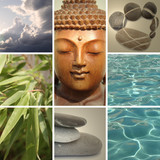 zen buddha collage