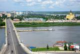 Scenic summer view of Nizhny Novgorod, Russia poster