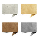 talk origami tag recycled paper craft poster