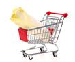 Einkaufswagen mit Chicoree Salat