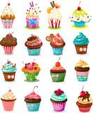 Set of cupcake
