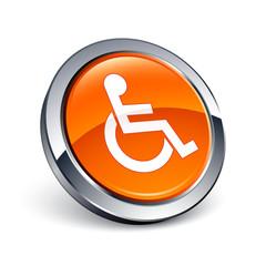 icône bouton internet handicap