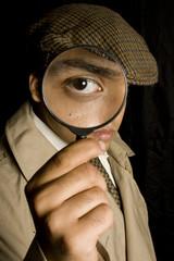 Detective spying